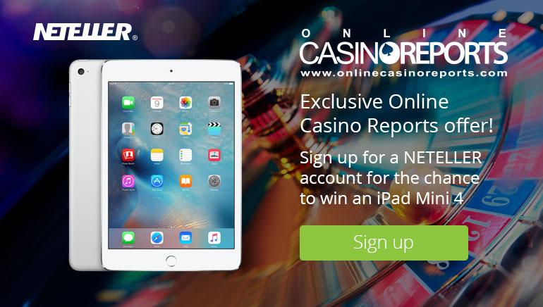Выиграй iPad Mini 4 в акции NETELLER и Online Casino Reports