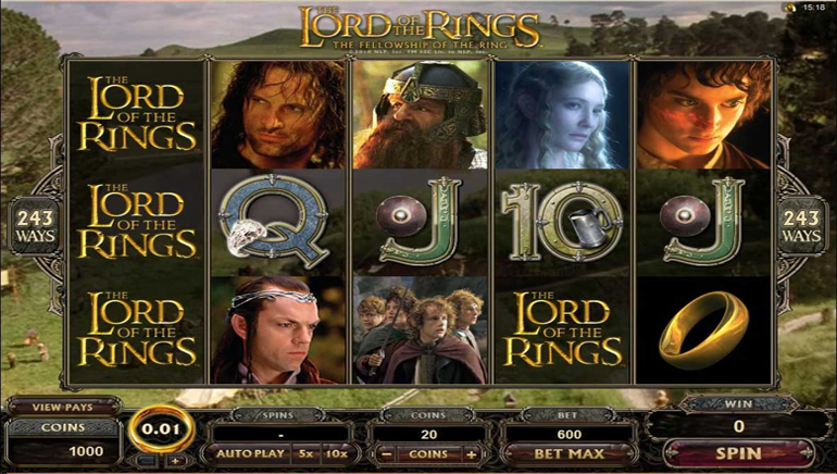 Lord of the Rings, в живую на Jackpot City
