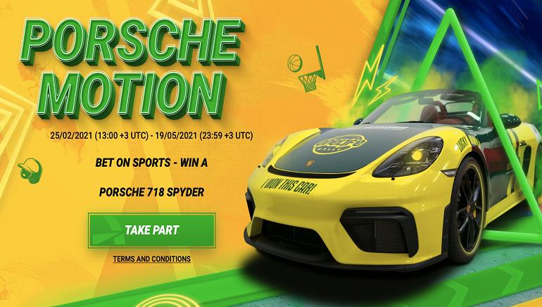 BetWinner поднимает обороты с помощью роскошной рекламной акции Porsche Motion