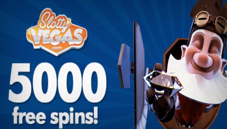 5000 Бесплатных спинов для Фанов страницы Slotty Vegas в Facebook.